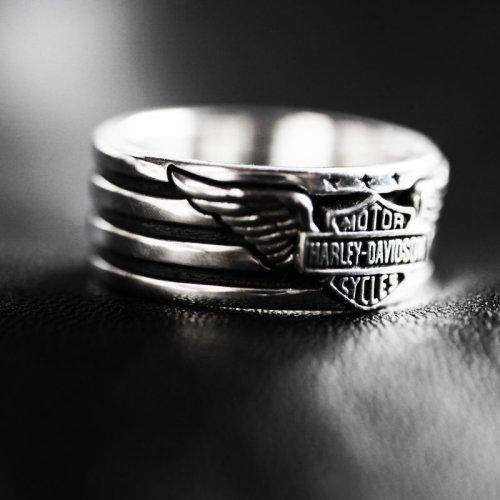 画像クリックで大きく確認できます Click↓2: ハーレーダビッドソン シルバーリング/Harley Davidson Sterling Silver Ring
