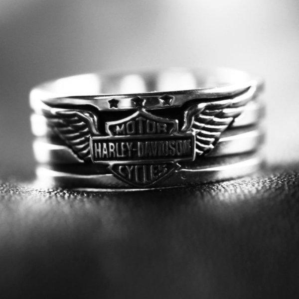 画像1: ハーレーダビッドソン シルバーリング/Harley Davidson Sterling Silver Ring