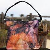 ウエスタン ホース アート ハンドバッグ(ブラウン)/Handbag
