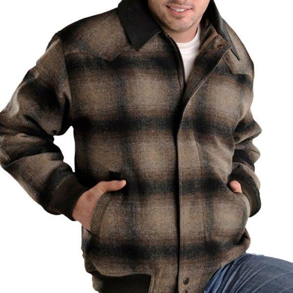 画像1: パウダーリバー ウエスタン コート(ブラウン)M/Powder River Coat