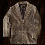 スカリー ラギッド ラム レザー ジャケット(ビンテージブラウン)42/Scully Leather Jacket