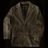 スカリー ラギッド ラム レザー ジャケット(ビンテージダークブラウン)40/Scully Leather Jacket