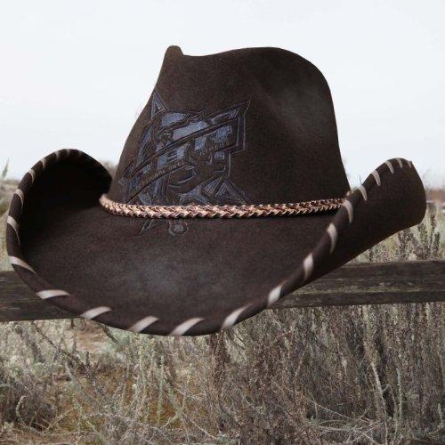 画像クリックで大きく確認できます Click↓2: PBR プロフェッショナル ブルライダース ウール カウボーイ ハット(ブラウン)/PBR Cowboy Hat(Brown)