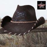 PBR プロフェッショナル ブルライダース ウール カウボーイ ハット(ブラウン)/PBR Cowboy Hat(Brown)