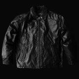 ボマー ジャケット(ブラック)M/Leather Bomber Jacket(Black)