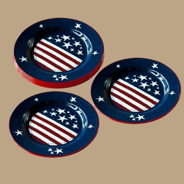 画像1: アメリカ ほうろう プレート/Enamelware Plate