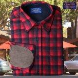 ペンドルトン ウール シャツ・エルボーパッチ トレイルシャツ レッド ・ブラック オンブレ/Pendleton Trail Shirt (Red Black Ombre)