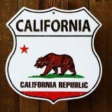 カリフォルニアリパブリック・グリズリー メタルサイン/Metal Sign