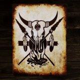 スカル メタルサイン/Metal Sign Skull