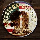 アメリカン カウボーイ ハット・ブーツ メタルサイン/Metal Sign American Cowboy