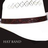 レザー ハット バンド(ブラウン)/Leather Hat Band(Brown)