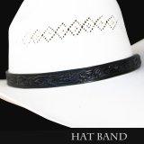 レザー ハット バンド(ブラック)/Leather Hat Band(Black)