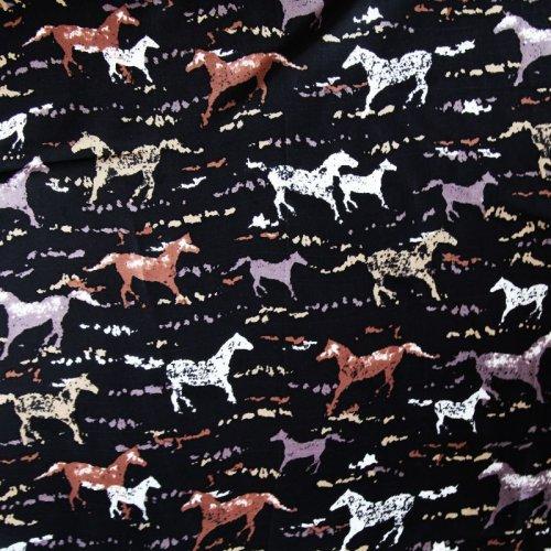 画像クリックで大きく確認できます Click↓1: シルク ワイルドラグ(カウボーイ大判スカーフ)ホース/100% Silk Wild Rags