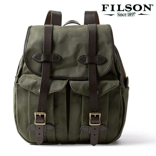 画像1: フィルソン リュックサック(オッターグリーン)/Filson Rucksack