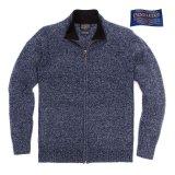 ペンドルトン シェトランド ウール ジップ カーディガン(トワイライトブルーヘザー)S/Pendleton Shetland Wool Zip Cardigan