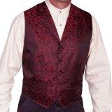 スカリー オールドウエスト ベスト(ワイルドヴァイン・レッド)/Scully Old West Vest (Wild Vine/Red)