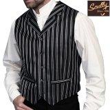 スカリー オールドウエスト ベスト(ブラック ストライプ)/Scully Old West Vest (Black Stripe)