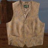 スカリー ウエスタン レザー ベスト(ブラウン)ラージサイズ42・46/Scully Leather Vest