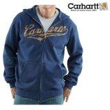 カーハート Carhartt ロゴ スエットパーカ(ネイビー)M/Carhartt Hooded Sweatshirt