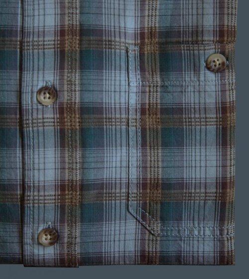 画像クリックで大きく確認できます Click↓2: ペンドルトン バーロウ アウトドア シャツ (半袖 ・ブルー)S/Pendleton Barlow Outdoor Shirt