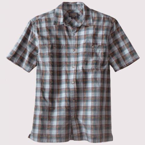 画像クリックで大きく確認できます Click↓1: ペンドルトン バーロウ アウトドア シャツ (半袖 ・ブルー)S/Pendleton Barlow Outdoor Shirt