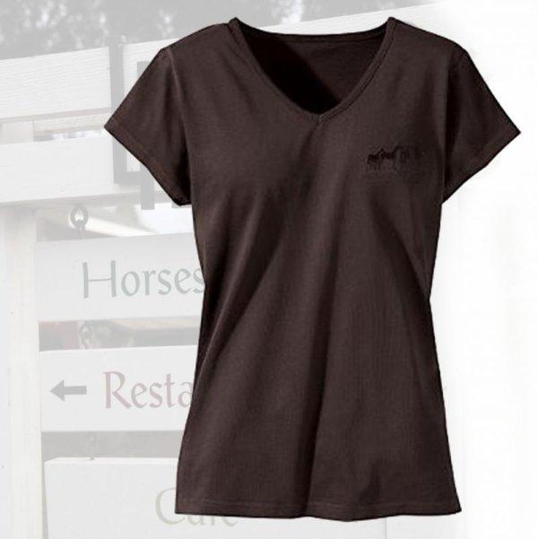画像1: ポニー デザイン 半袖Tシャツ ダークブラウン(レディース)S/Ponies Shortsleeve T-shirt(Dark Brown・Women's)