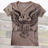 レディース ウエスタン Tシャツ アメリカンイーグル ブラウン(半袖)/Women's Western T-shirt