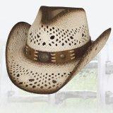 ウェスタンストローハット(ブラウン・ホワイト)/Western Straw Hat (Brown White)
