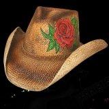 ブルハイド ウェスタンストローハット(ラブ ストーリー)/BULLHIDE Western Straw Hat Love Story(Pecan)