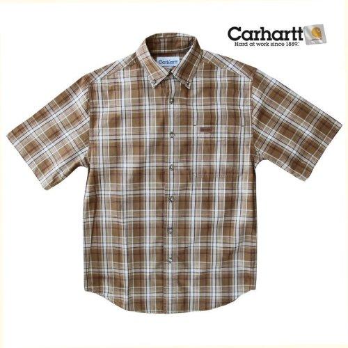画像クリックで大きく確認できます Click↓1: カーハート 半袖 シャツ(ブラウン)/Carhartt Plaid Shortsleeve Shirt(Brown)