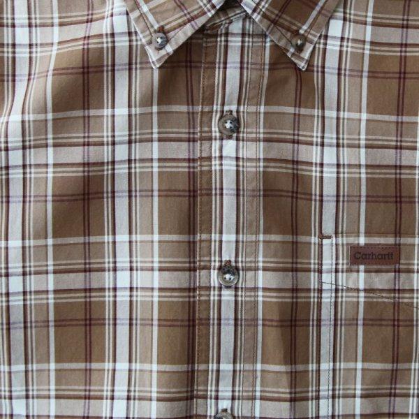 画像3: カーハート 半袖 シャツ(ブラウン)/Carhartt Plaid Shortsleeve Shirt(Brown)
