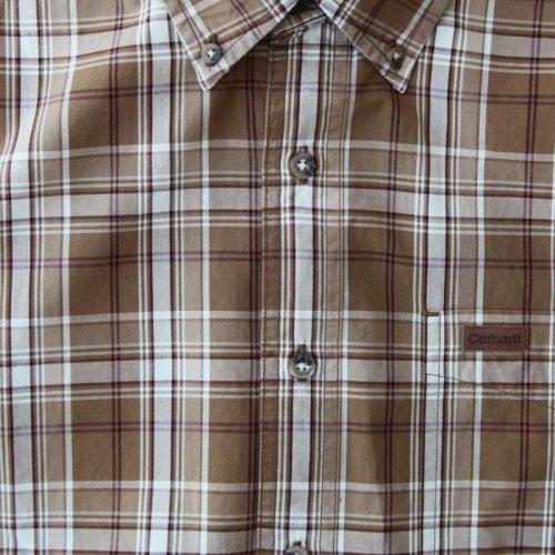 画像クリックで大きく確認できます Click↓3: カーハート 半袖 シャツ(ブラウン)/Carhartt Plaid Shortsleeve Shirt(Brown)