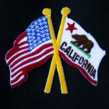 ワッペン 星条旗・カリフォルニア/Patch