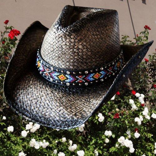 画像クリックで大きく確認できます Click↓1: ブルハイド ウエスタン ストローハット(ラブマイセルフ)/BULLHIDE Western Straw Hat Love Myself