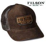 フィルソン コーデュロイ ロガー メッシュ キャップ(ブラウン)/Filson Corduroy Logger Mesh Cap(Brown)