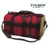 フィルソン マッキーノ スモールダッフル(レッド×ブラック)/Filson Mackinaw Small Duffle Bag(Red×Black)
