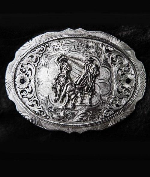 画像クリックで大きく確認できます Click↓1: モンタナシルバースミス ウエスタン ベルト バックル チームローパー/Montana Silversmiths Belt Buckle