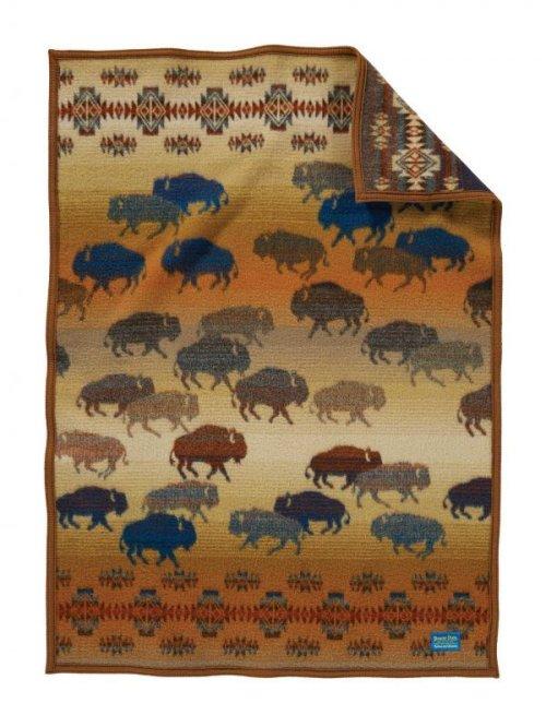 画像クリックで大きく確認できます Click↓1: ペンドルトン プレーリーラッシュアワー ムチャチョ ブランケット/Pendleton Prairie Rush Hour Crib Blanket