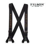 フィルソン タブ サスペンダー(ブラック・タン)/Filson Tab Suspenders(Black/Tan)