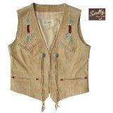 スカリー ウエスタン フリンジ ベスト(ビーズ・タン)XS/Scully Fringe Vest(Women's)