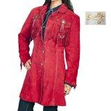 スカリー ウエスタン フリンジ レザー コート(レッド)/Scully Leather Fringe Coat(Women's)