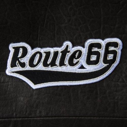 画像クリックで大きく確認できます Click↓1: ワッペン ルート66 ブラック・シルバー/Patch Route 66