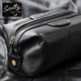 スカリー レザー トラベルキット ケース(ブラック)/Travel Kit(Black)