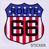 ビニール ステッカー ルート66・USAフラッグ/Sticker