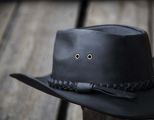 画像クリックで大きく確認できます Click↓2: ブラック バッファロー カウボーイ ハット/Genuine Leather Cowboy Hat(Black)