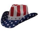 アメリカ国旗 星条旗 カウガール&カウボーイ ウエスタン ストローハット/Western Straw Hat