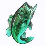 アウトドア仕様 防水ステッカー Bass