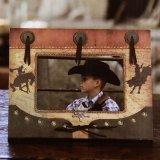 ウエスタン フォトフレーム・写真立て ブロンコ&ブル カウボーイバッジ/Western Photo Frame