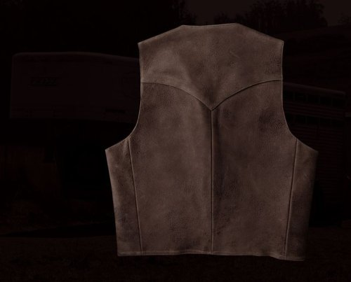 画像クリックで大きく確認できます Click↓2: スカリー ウエスタンヨーク ラムレザー ベスト(ブラウン)/Scully Leather Vest