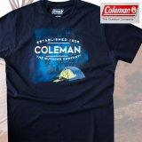 コールマン アウトドア キャンプ 半袖 Tシャツ(ネイビー)/Coleman T-shirt